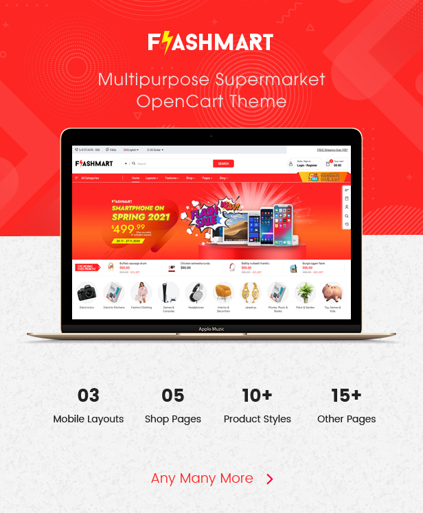 FlashMart - Opencart Theme