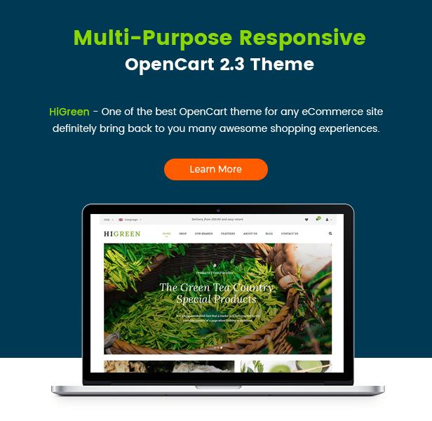 HiGreen - Multipurpose OpenCart Theme for Online Shop