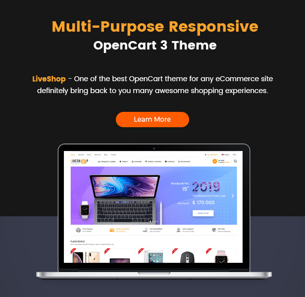 liveshop - Opencart Theme