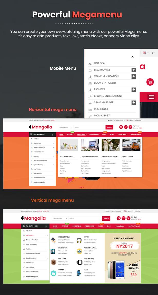 Mangolia - OpenCart Theme
