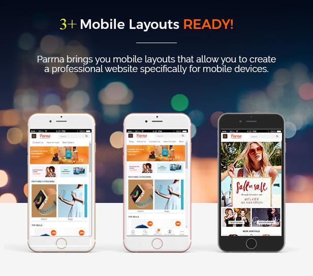 parna - Opencart Theme