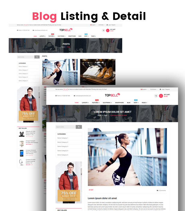 Topsell - Opencart 3 Theme