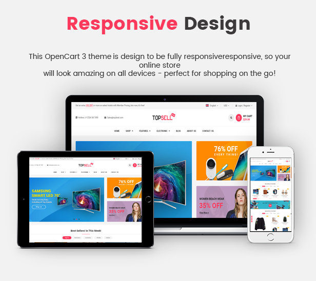 Topsell - Opencart Theme