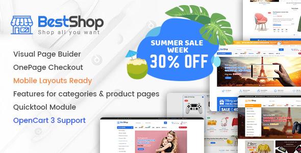 Best Premium Responsive OpenCart Theme - BestShop