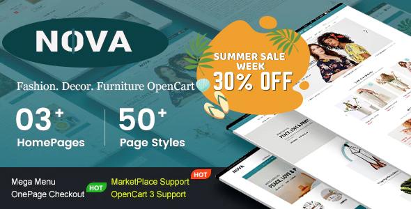 Premium Responsive furniture OpenCart Theme - Nova