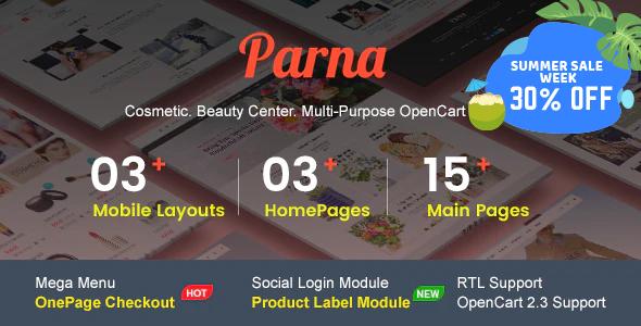 Premium Responsive OpenCart Theme - Avansi