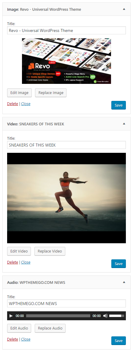 Brand New Media Widget in WordPress 4.8
