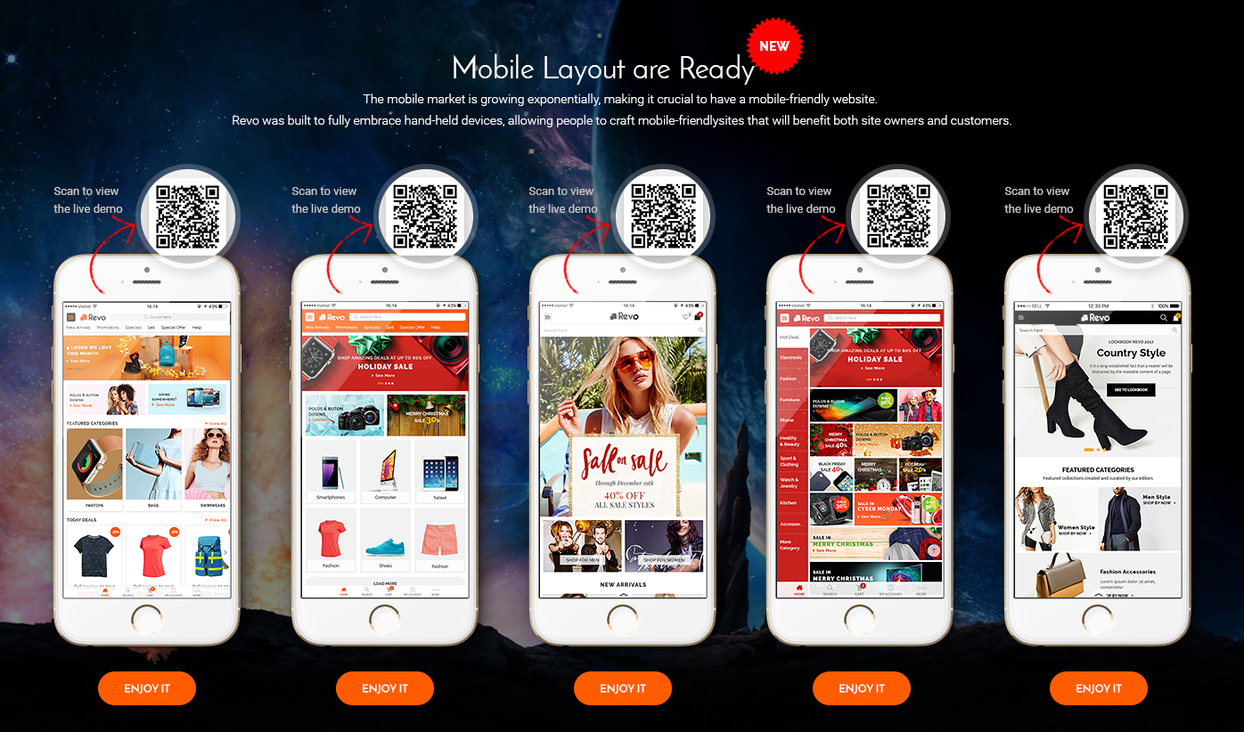 Mobile Layouts in Revo Theme