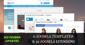 Joomla Templates/Extensions Updated in November, 2015