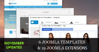 Joomla Templates/Extensions Updated in November, 2015