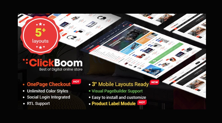 ClickBoom - Advanced OpenCart 2.3 Shopping Theme With Mobile-Specific Layouts