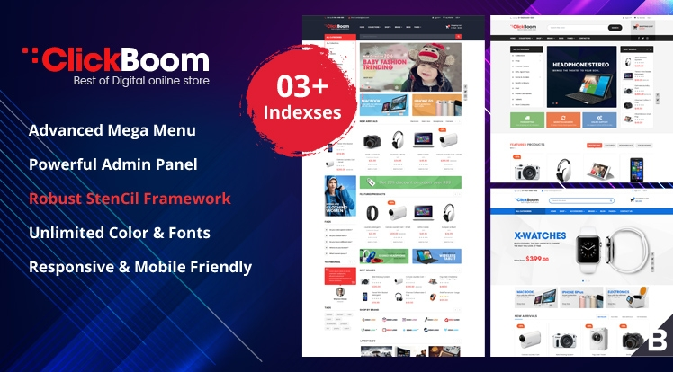 ClickBoom - Responsive StenCil BigCommerce Theme with Advanced Option
