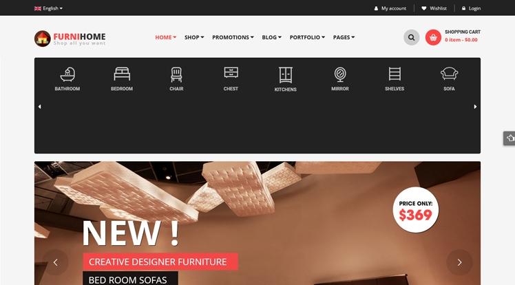 FurniHome - Furniture Shop & Interior Design WordPress Theme