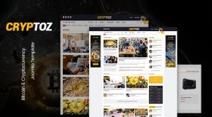 Sj Cryptoz - Bitcoin & Cryptocurrency Joomla Template