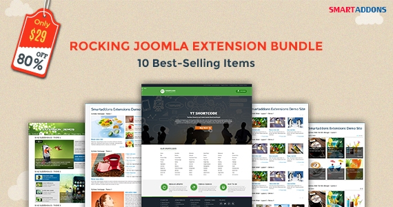Doorbuster Joomla Bundle: 10 Best-selling Items - Just $29 (Save 80%)