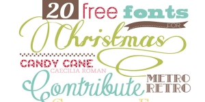 Xmas Freebies: 20 Great Xmas Fonts 2015