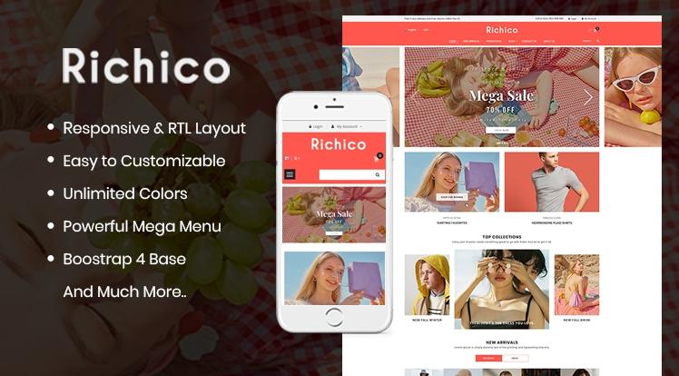 So Richico - The Clean, Minimal & Multipurpose OpenCart 3 Theme
