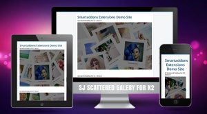 SJ Scattered Gallery for K2 - Responsive Joomla! Module