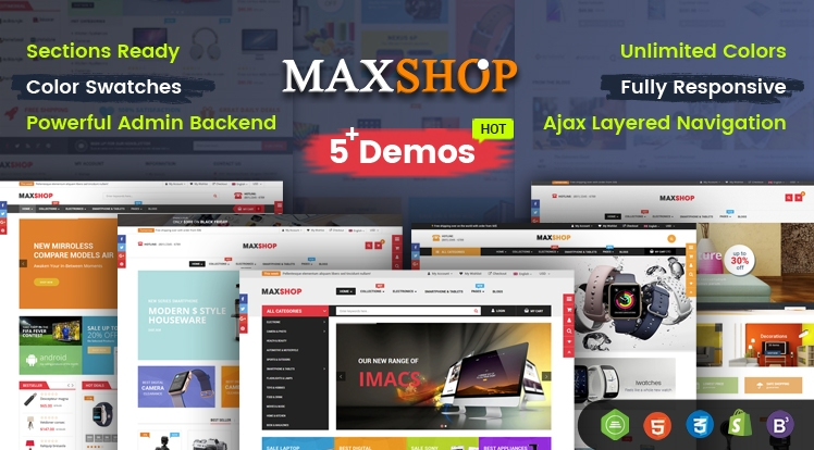 Ss MaxShop - Advanced Multipurpose Shopify Sections Theme