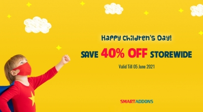Happy Children's Day 2021! 40% OFF on Everything