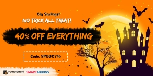 40% OFF Haunted Halloween Sale! Everything at SmartAddons & ThemeForest Stores