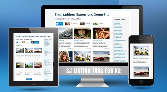 SJ Listing Tabs for K2 - Responsive Joomla! Module