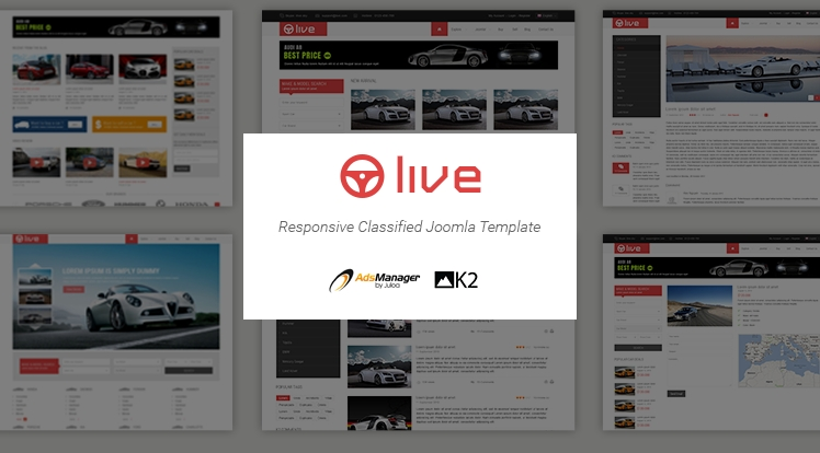 SJ Live - Responsive Joomla Classified Template