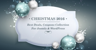 Best Joomla & WordPress Coupons, Deals and Discounts Collection Christmas 2016
