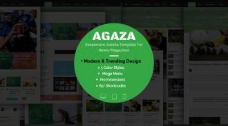 SJ Agaza - Responsive Joomla news magazine Template