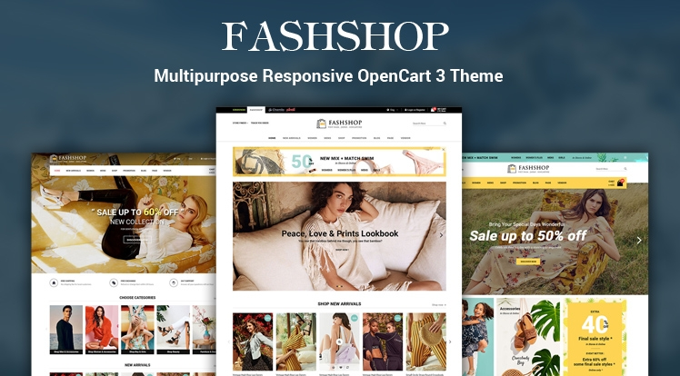 FashShop - Multipurpose Responsive OpenCart 3 Theme with Mobile Layouts