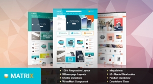 SJ Matrix - Responsive Joomla eCommerce Template
