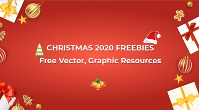 Christmas 2020 Freebies: Free Elegant Vector, Graphic Resources
