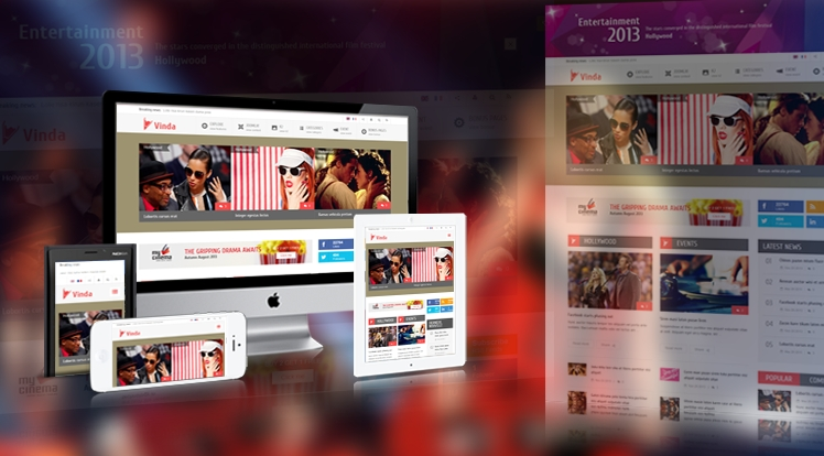 SJ Vinda - Free Joomla Entertainment Template