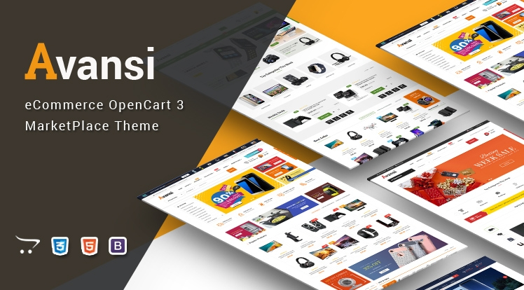Avansi - Multipurpose MarketPlace OpenCart 3 Theme (Mobile Layouts Included)