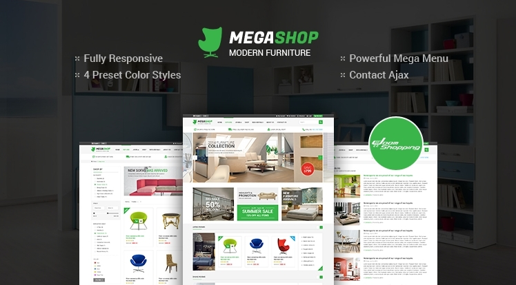 SJ MegaShop - Gorgeous Joomla template for JoomShopping component