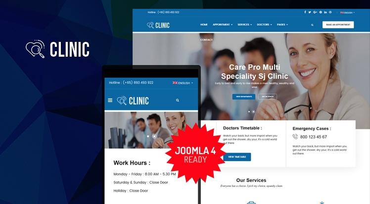 Sj Clinic - Responsive Joomla Clinic & Healthcare Template