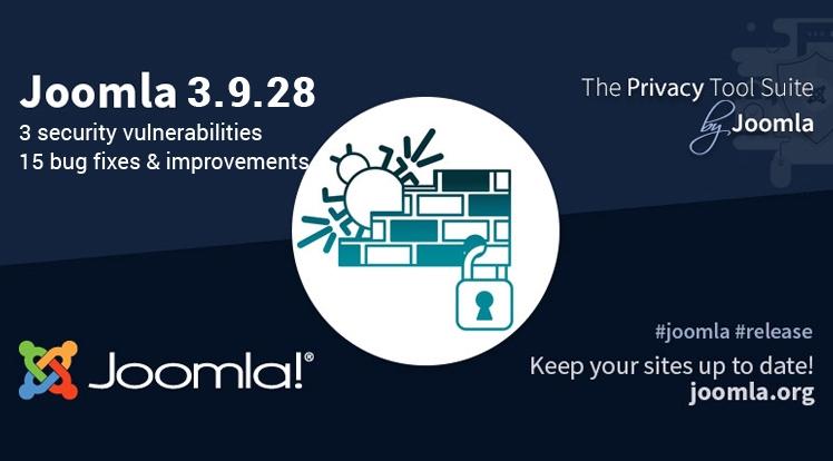Joomla 3.9.28 Security and Bug Fix Release