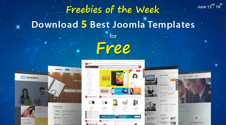 Freebies of the Week: Get 5 Premium Joomla Templates for FREE