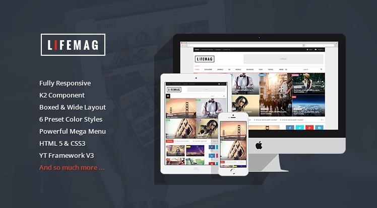 SJ LifeMag - Clean & Modern Responsive News, Magazine Joomla 3.x Template