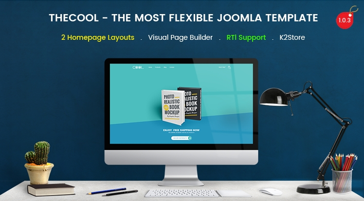 SJ TheCool Pro - Responsive One Page Book Store Joomla Template