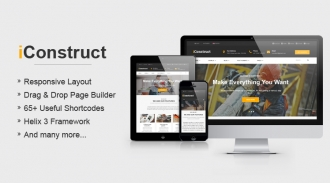 Sj iConstruct - Responsive Multipurpose Business Joomla Template