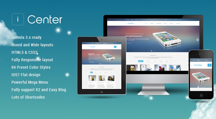 SJ iCenter - Responsive Joomla Apple shop Template