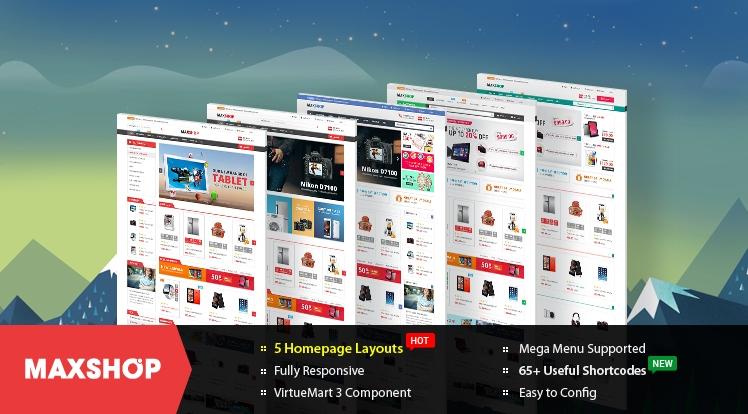 SJ Maxshop - Responsive Joomla Multipurpose eCommerce Template