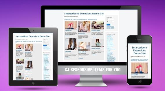 SJ Responsive Items for Zoo - Joomla! Module