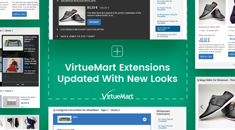 HOT UPDATE: 5 VirtueMart Extensions Updated with New Fresh Designs
