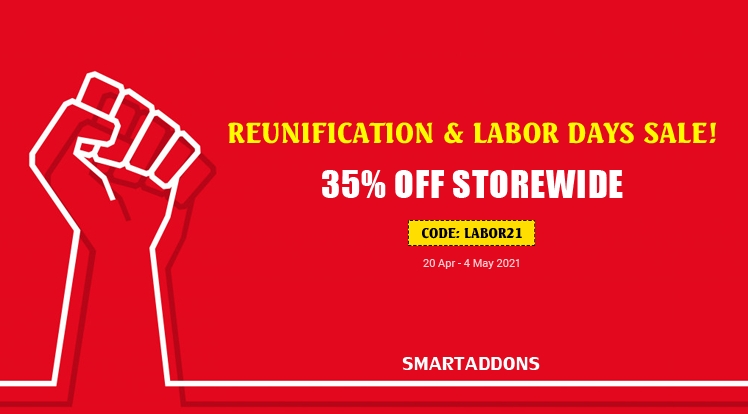 [SMARTADDONS] Reunification & Labor Days Sale! 35% OFF on Storewide