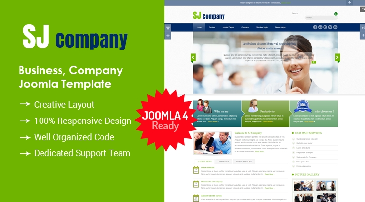 SJ Company - Responsive Joomla Company Template