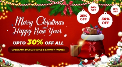 Xmas 2019 & New Year 2020: Save upto 30% all BigCommerce, OpenCart & Shopify Themes