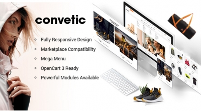 Convetic - Responsive Sport & Gym OpenCart 3 Theme