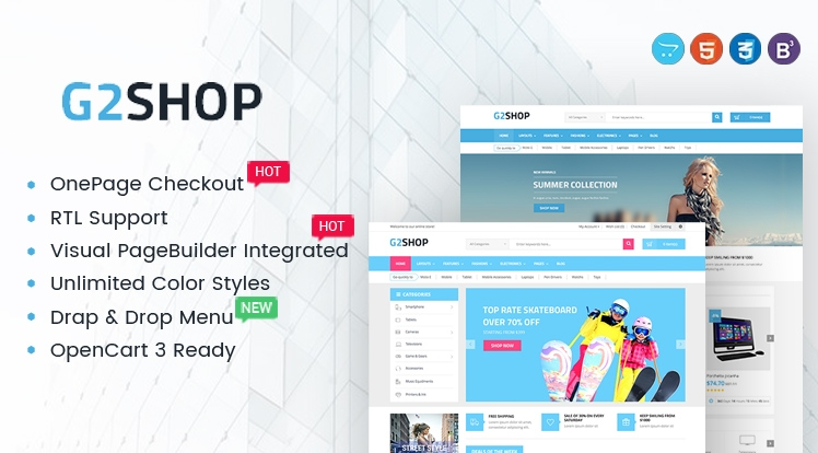 G2shop - Multipurpose eCommerce OpenCart Theme